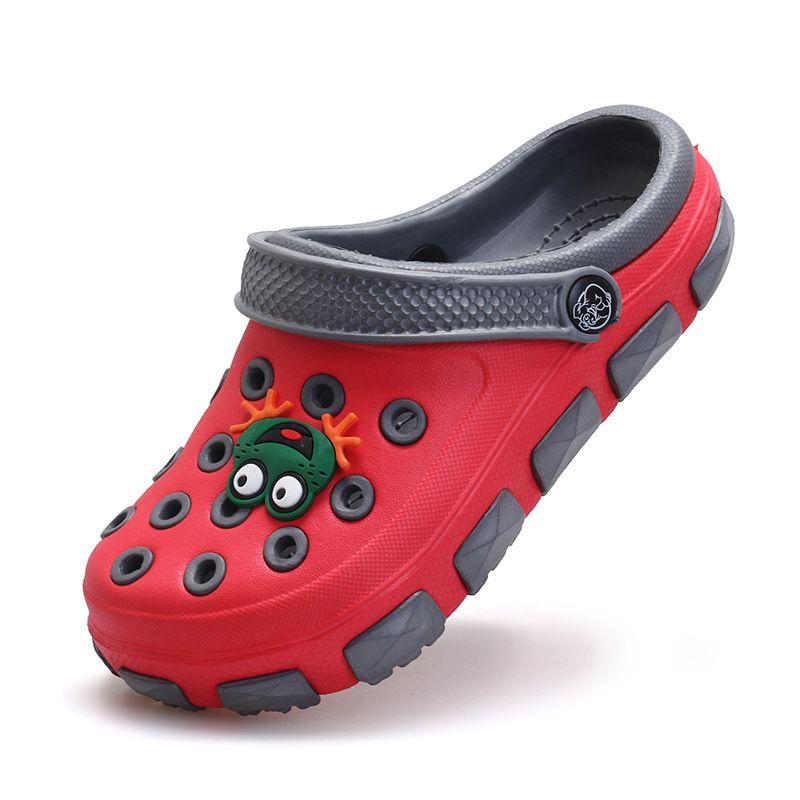 El Bebe Oso Kids Summer Sandals Slipper GIrl & Boy Niños Rana de Dibujos Animados Mulas Zuecos Zapatos de Desgaste antideslizante Sandalias del bebé Del Zapato Del Jardín