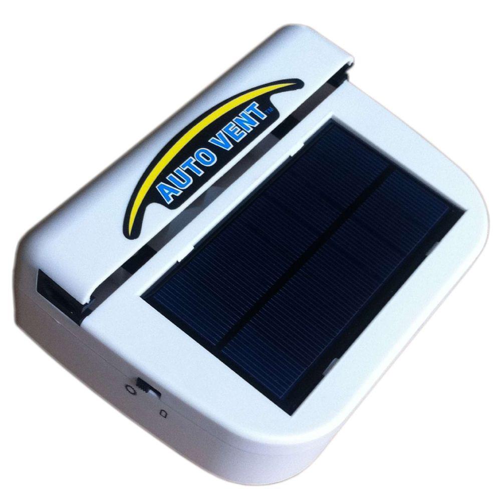 Portable Solar powered Vehicle Auto Car Fan  Car Fan Auto Cooling Fan Blows hot air out and draws fresh air