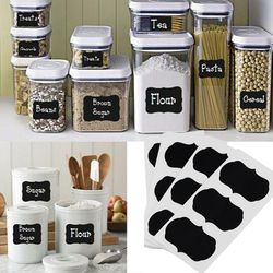 36 unids/set pizarra etiqueta jarras de la cocina del arte etiquetas pizarra etiqueta 5 cm x 3,5 cm tablero negro