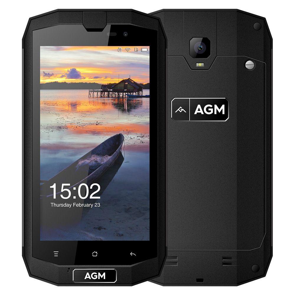 Original AGM A1Q 4G Smartphone 5.0 inch Android 7.0 MSM8916 Quad Core 1.2GHz 4GB RAM 64GB ROM IP68 Waterproof OTG NFC Function