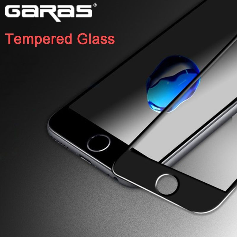 GARAS Tempered Glass Screen Protector For iphone 7 Protective Glass 4D Stickers Flim Screen Protector For iphone 6 6plus 7plus