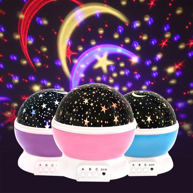 Nouveauté jouets lumineux romantique ciel étoilé LED veilleuse projecteur batterie USB veilleuse créative anniversaire jouets pour enfants