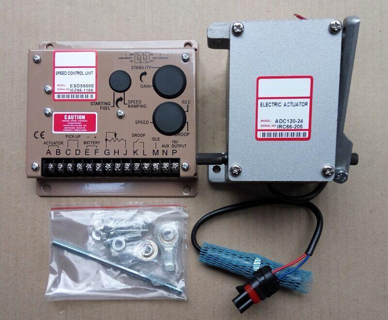actuator ADC120-24V ADC120-12V Diesel generator Governor Kit 1PCS ADC120 ( 12V OR 24V ) + 1PCS ESD5500E + 1PCS 3034572