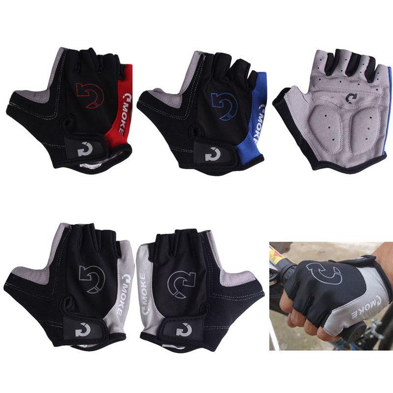 Перчатки Половина Finger Нескользящие гель площадку дышащий мотоциклетные MTB дорожный велосипед Прихватки для мангала Для мужчин Для женщин с...