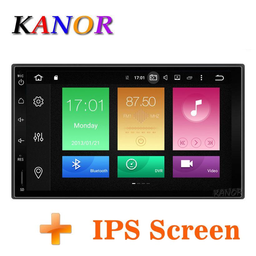 KANOR Octa Core RAM 4G ROM 32G 2 Din Android 9.0 autoradio stéréo avec GPS WiFi universel GPS Navigation vidéo unité de tête