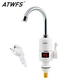 ATWFS мгновенного горячей воды нагреватель водопроводной воды Быстрая мгновенный термостат для подогревателя воды 3000 Вт Электрический кран ...