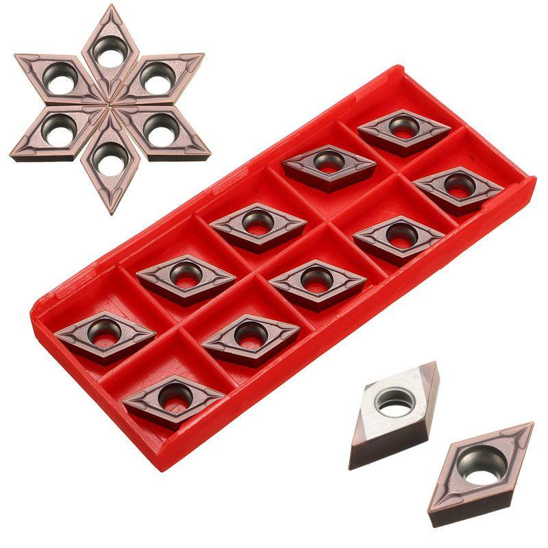 10 Teile/schachtel DCMT11T304 VP15TF CNC Metalleinsatz Lot Klinge Cutter Drehmaschine Klinge Lila Hartmetall Langlebige Qualität