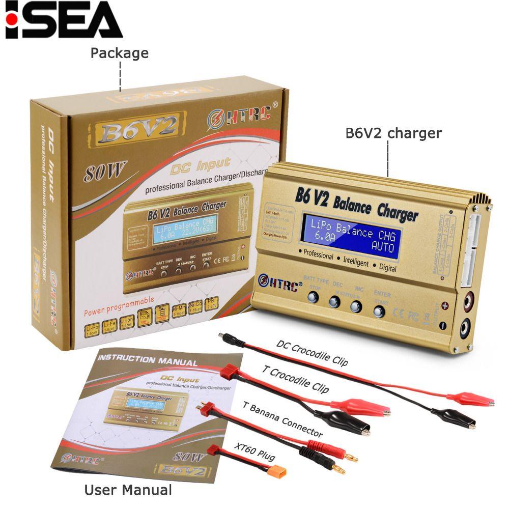 HTRC Imax B6 V2 80W Professional Digital Battery Balance Charger Discharger for LiHV LiPo LiIon LiFe NiCd NiMH PB Battery