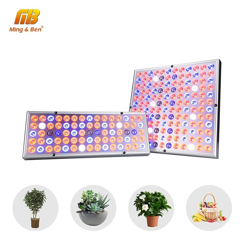 Phyto Lamp Indoor Grow Lamp For Plant 380-780nm Full Spectrum LED Growing Light 85-265V 75leds 144leds 25W 45W UV IR Lamps Panel