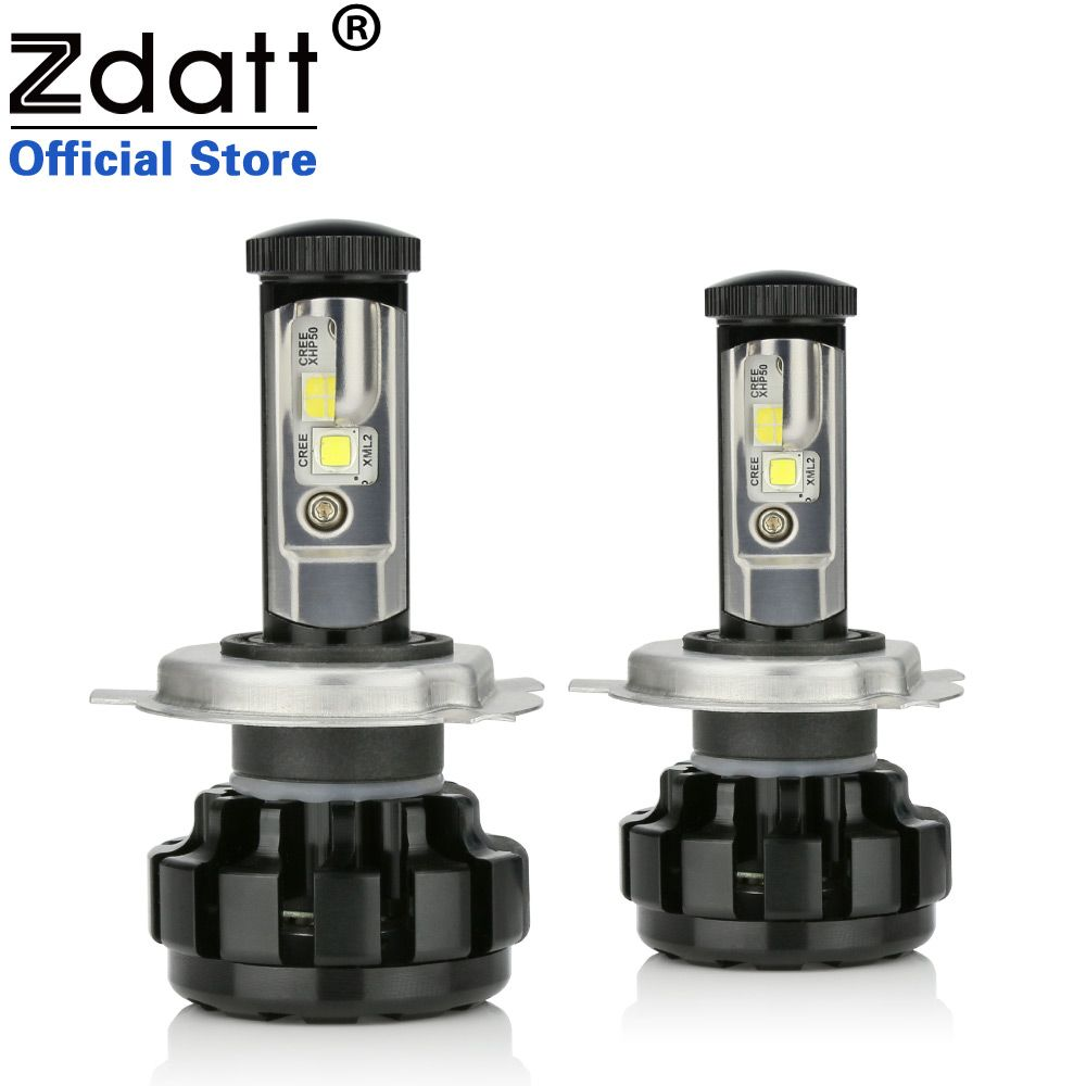 Zdatt 100W 14000LM H4 Car Led Headlights H7 H8 H11 9005 HB3 9006 HB4 Canbus Built-in Decoder Error Free Auto Bulb 12V Headlamp