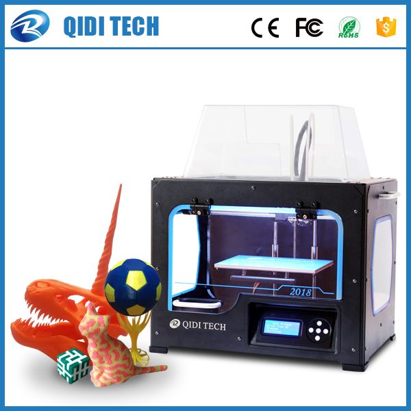2018 Newest High Quality QIDI TECH I Dual extruder 3D Printer with upgraded 7.8 version motherboard W/2 free ABS PLA filaments