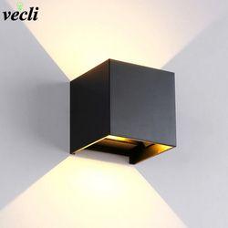 IP65 Étanche 6 W intérieur extérieur Led Mur Lampe moderne En Aluminium Réglable Surface Monté Cube Led Jardin Porche Lumière