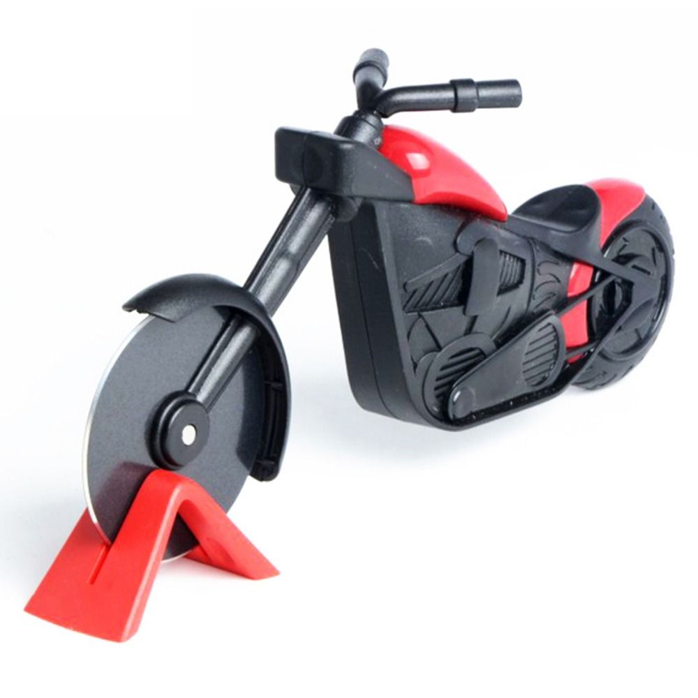 Motorcycle Pizza Cutter Knife Tools Stainless Steel Pizza Wheel Cutter Motorbike Roller Pizza Chopper Slicer Peel Knives