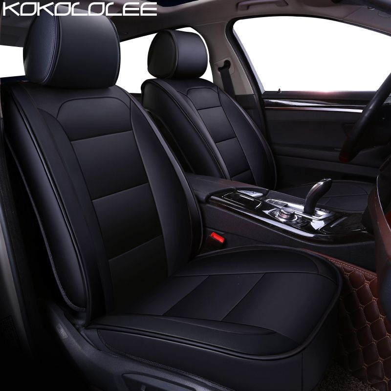 KOKOLOLEE pu leather car seat cover for BMW F10 F11 F15 F16 F20 F25 F30 F34 E60 E70 E90 1 3 5 7 GT X1 X3 X4 X5 X6 Z4 Car styling