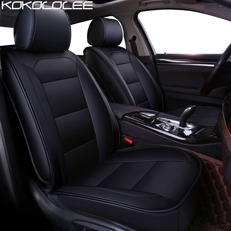 KOKOLOLEE pu leder auto sitz abdeckung für BMW F10 F11 F15 F16 F20 F25 F30 F34 E60 E70 E90 1 3 5 7 GT X1 X3 X4 X5 X6 Z4 Auto styling