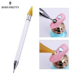 Dual-ended Nail Dotting Pen Crystal Beads Handle Rhinestone Studs Picker Wax Pencil Manicure Nail Art Tool