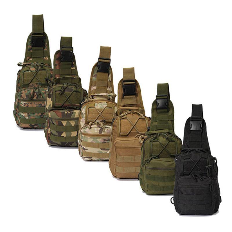 Sport en plein air En Nylon Tactique Militaire Sling Unique Épaule Poitrine Sac Pack camping randonnée Sac À Dos escalade sac
