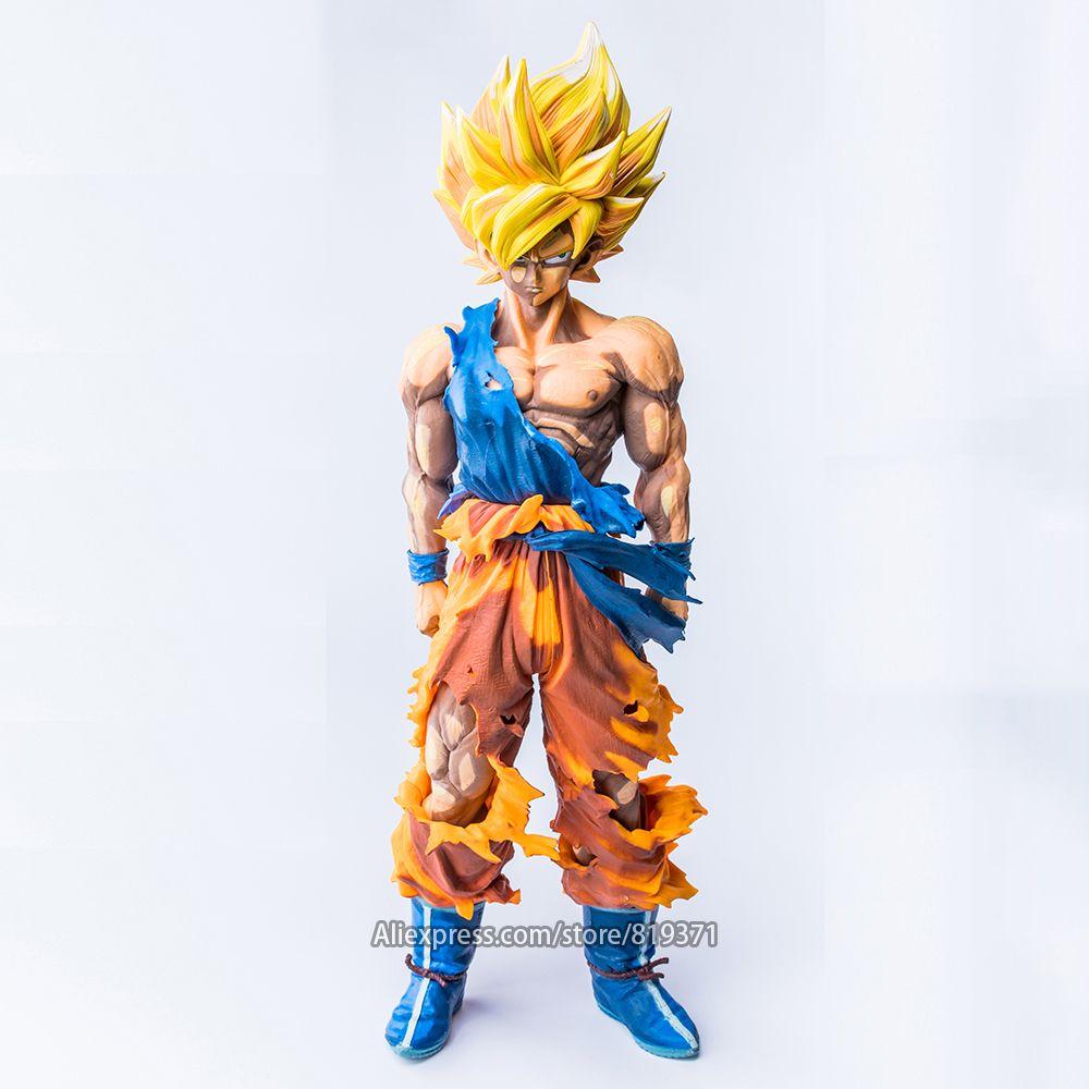 34cm DragonBall Z Master Stars Piece The Son Goku Super Saiyan Special Color ver. Dragon Ball Figure Action Figuras Juguete Toys