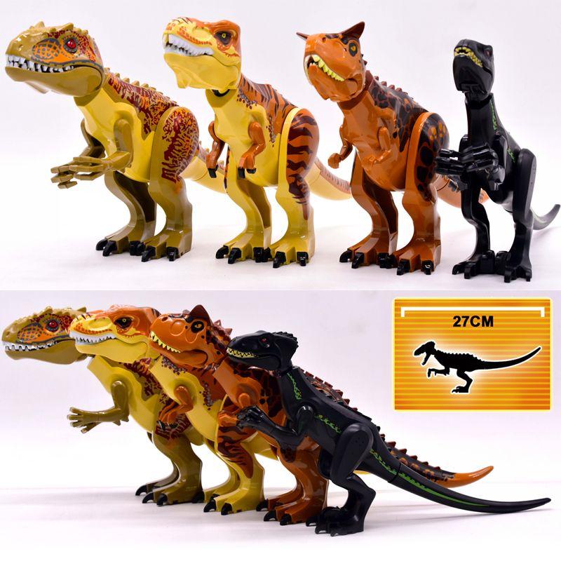 Jurassic World Brutal Raptor Building Blocks Jurrassic World 2 Dinosaur Figures Bricks Toys For Children Compatible with Legoing