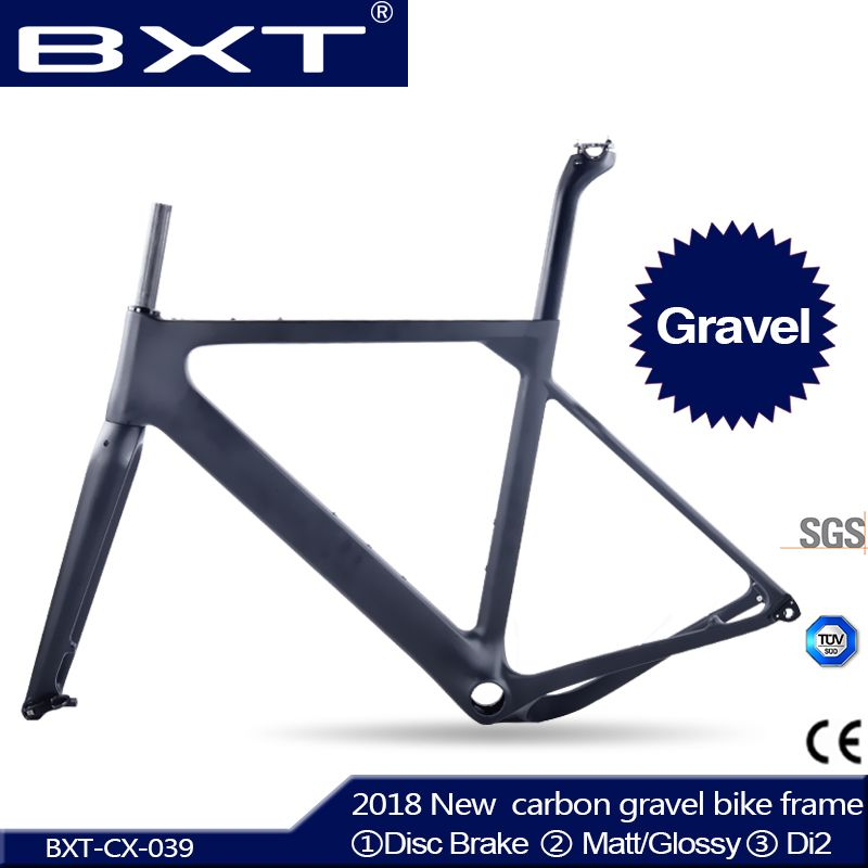 2018 neue BXT Carbon Kies Fahrradrahmen aero Road oder MTB rahmen 142x12mm scheibenbremse Cyclocross Kies Carbon Fahrradrahmen