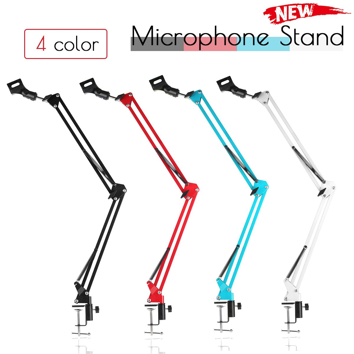 NB-35 Professional Metal <font><b>Suspension</b></font> Scissor Arm Adjustable Microphone Stand Holder For Mounting On PC Laptop Notebook