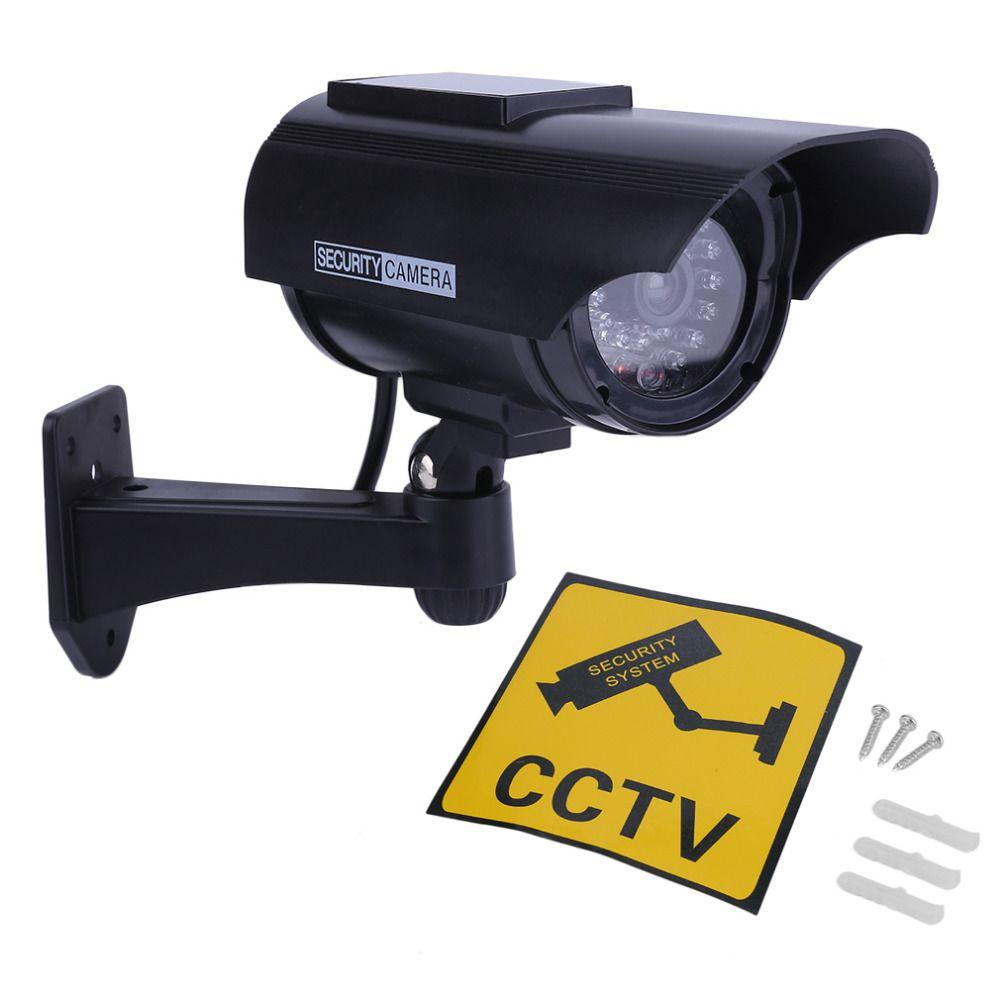 Solar Powered Gefälschte Kamera Indoor Outoodr Dummy Kugel CCTV Überwachungs Kamera mit Blinkt IR LED