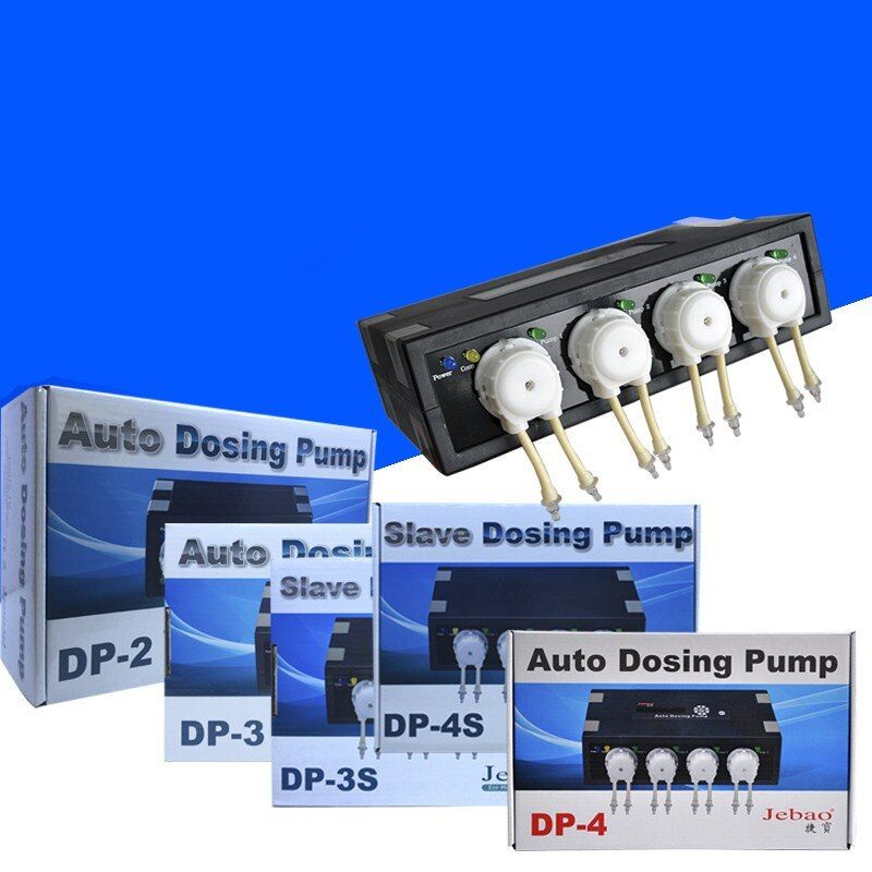 High Quality Jebao DP-2 DP-3 DP-4 Automatic Dosing Pump Aqurium Doser Pump for Marine Seawater Coral Reef Fish Tank