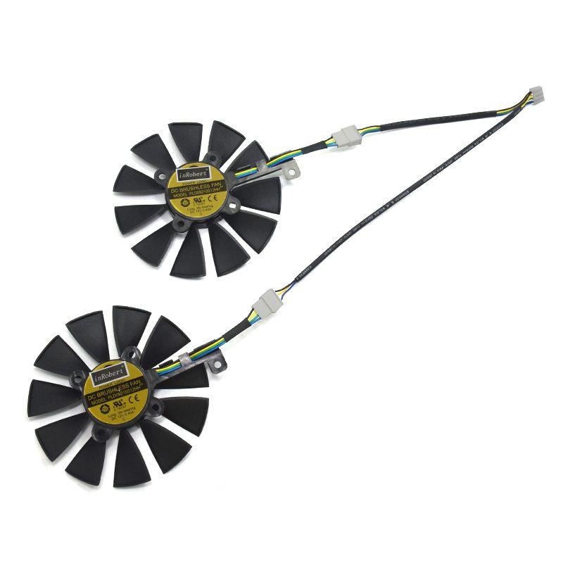 2 teile/los 87mm PLD09210S12HH 4pin GTX 1070 Video Karte Kühler Fan Ersetzen für ASUS GTX 1070 dual GTX1060 Grafik karten Kühlung