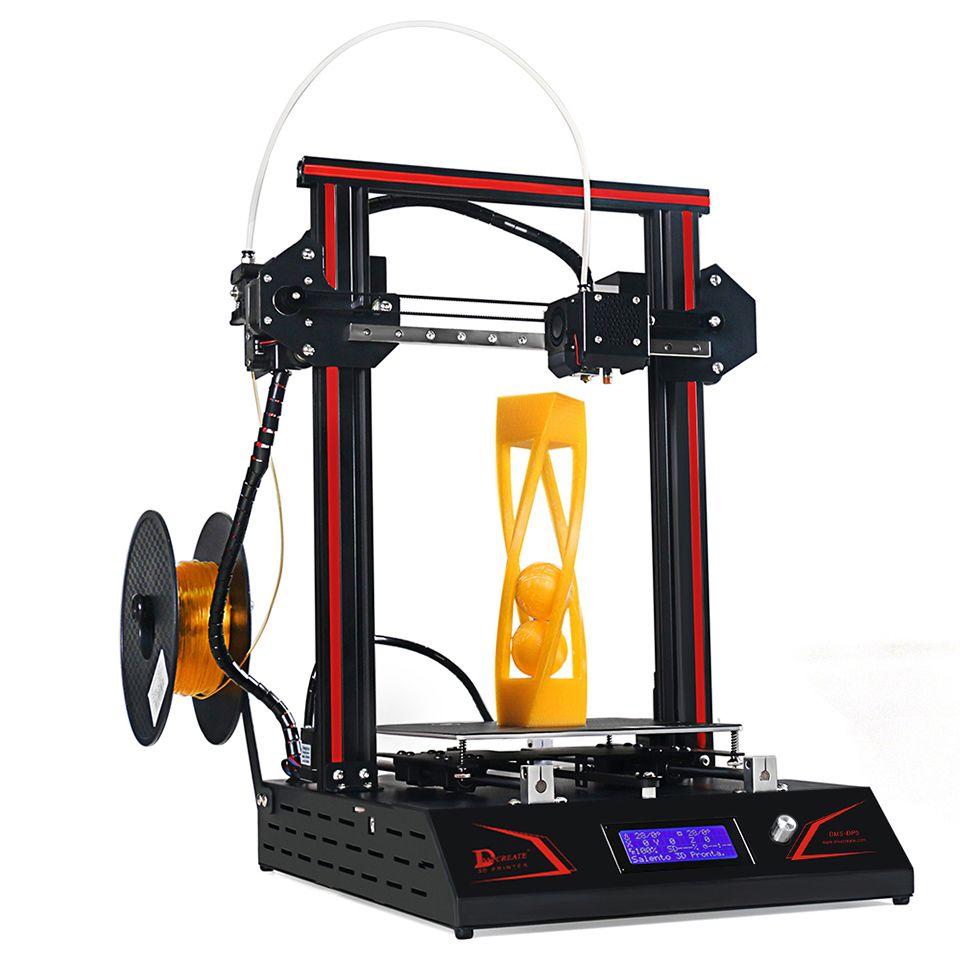 DMSCREATE DP5 3D Drucker 2018 neueste upgrade Full Metall Rahmen Linearführungsschiene Pulley Rad i3 Kit große größe, 24 v netzteil