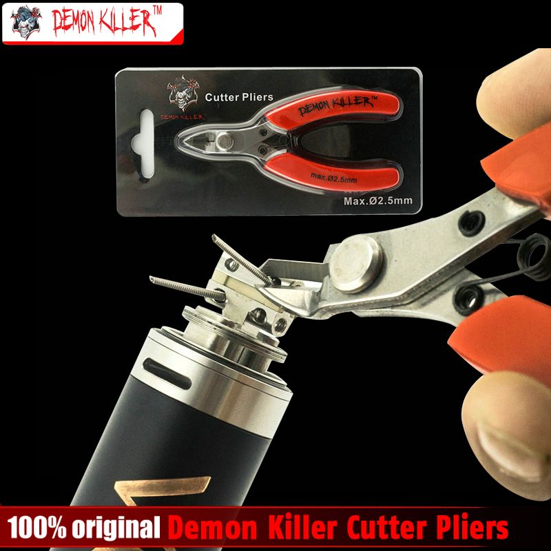 Original Demon killer Cutter Pliers 3Cr13 steel Rubber Handle DIY Electronic Cigarette Coil Wick Wire Cutter for DIY Atomizer