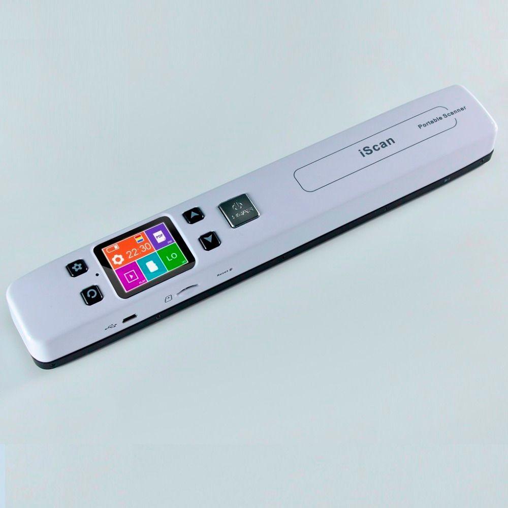High Speed Tragbare Scanner A4-format Dokumentenscanner 1050 DPI JPG/PDF unterstützung 32G TF Karte Mini Scanner Stift mit Pre Ansicht bild