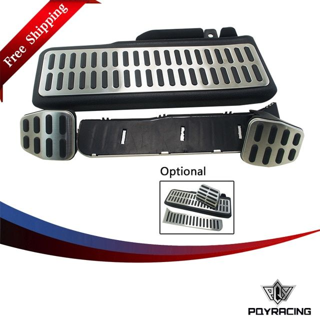PQY- Stainless Car Accelerator Gas Brake pedal Clutch Pedal For VW Volkswagen Jetta MK5 Golf 5 6 Scirocco Tiguan Skoda Octavia