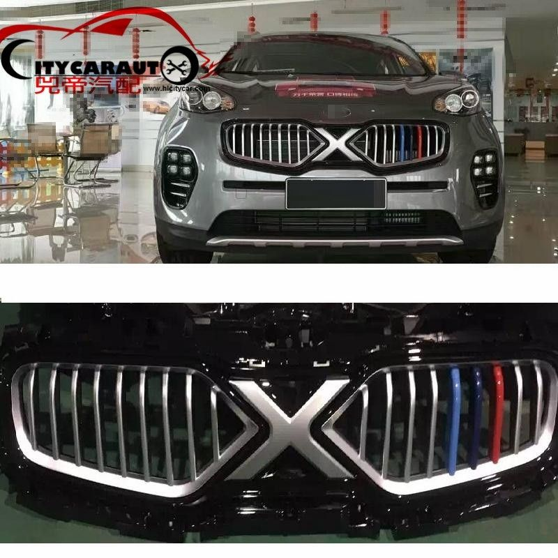 TOP QUALITY FRONT RACING GRILL GRILLE CAR STYLING fit for NEW kia SPORTAGE KX5 2016 2017 FRONT GRILL RACING GRILL with free ship