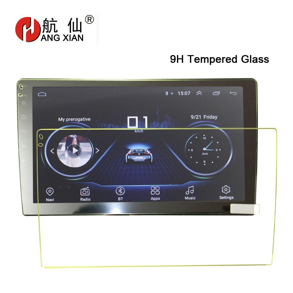Accrocher XIAN verre protecteur d'écran Film voiture autocollants pour 9, 10.1 voiture Radio de voiture DVD GPS verre trempé Film protecteur autocollant