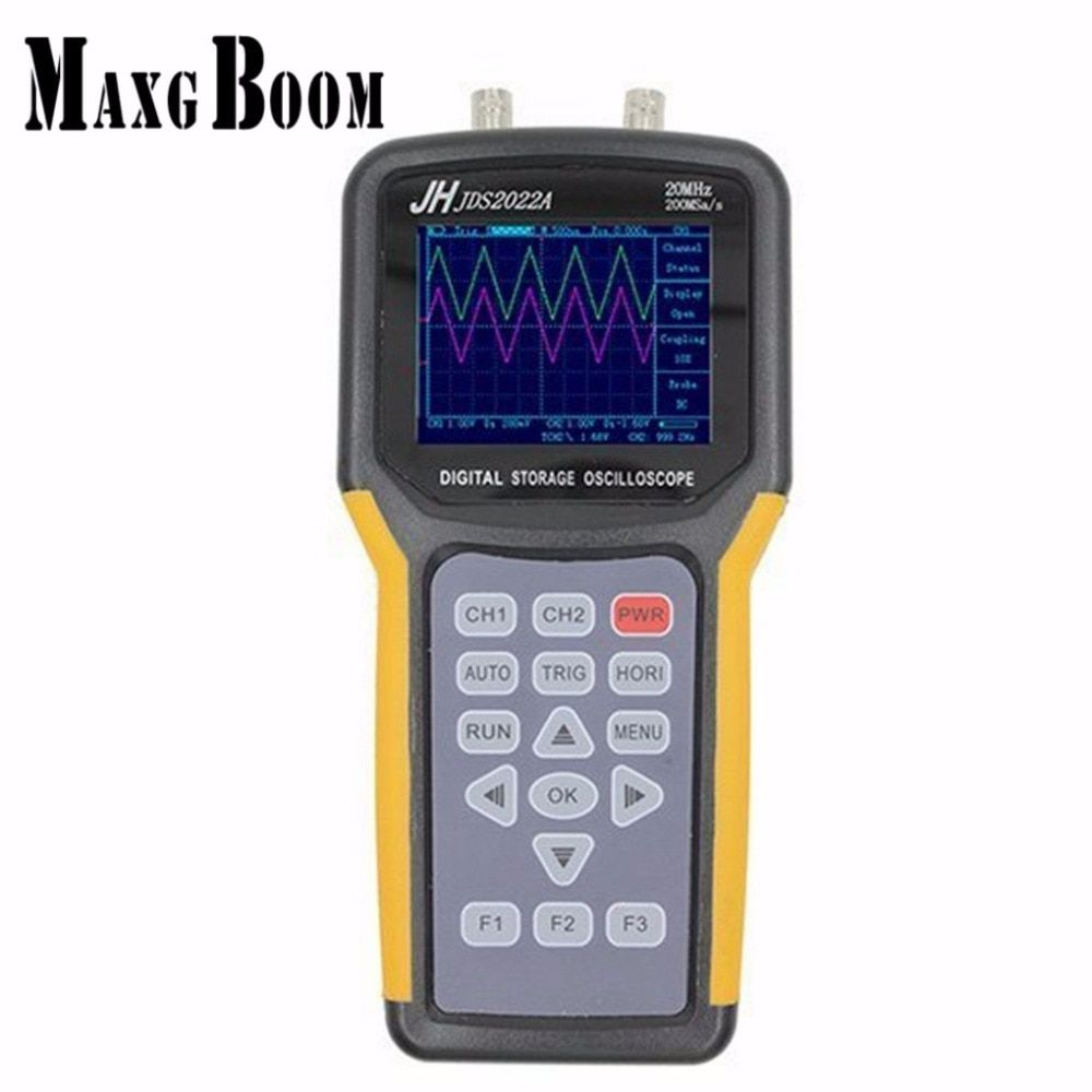 Jinhan JDS2022A Double-channel handheld Digital oscilloscope 20MHz Bandwidth 200MSa/s Sample Rate,automotive oscilloscope