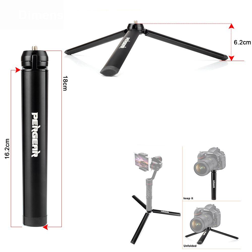 Pergear Алюминий мини настольный штатив ногу для штатива селфи палка расширяемой монопод смартфонов камеры Zhiyun гладкой Q кран
