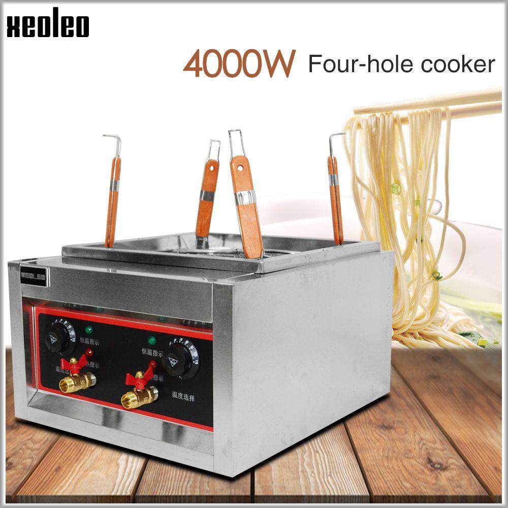 XEOLEO Elektrische Nudel kochen maschine Nudel kessel 4 Korb Pasta herd Kommerziellen Nudel kochen herd edelstahl Pasta Herd