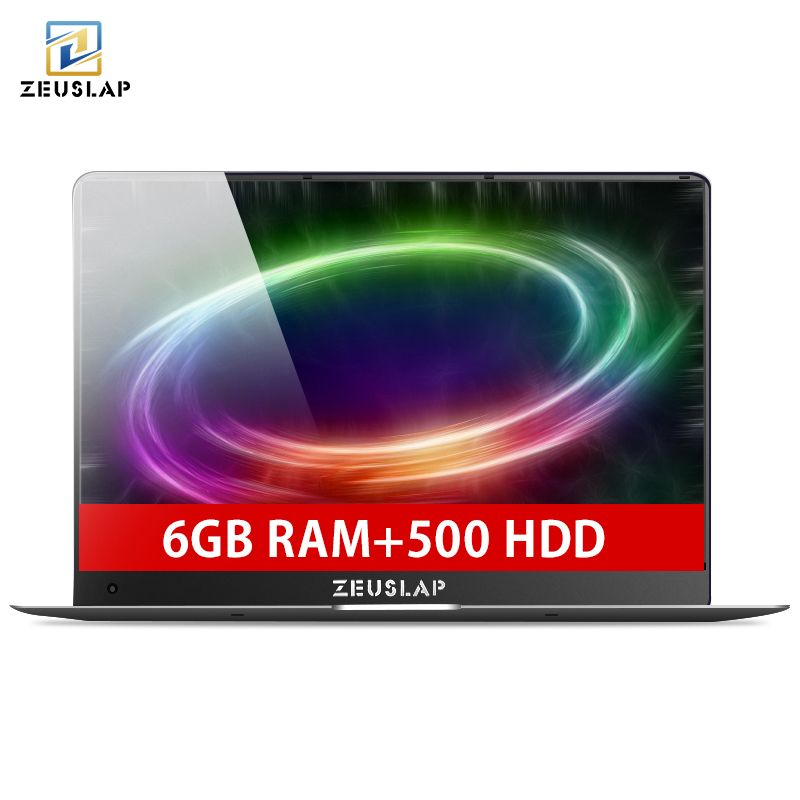 ZEUSLAP 15.6inch 1920X1080P Full HD 6GB RAM 500GB HDD Intel Quad Core Windows 10 System Wifi Bluetooth Laptop Notebook Computer