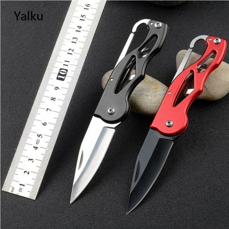 Protable Pocket Knife Folding Fold Hunting Camping Tactical Rescue Survival Key Ring Keychain Mini Peeler Outdoor Survival Tool