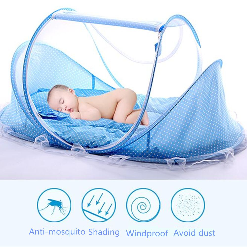 Baby Bedding Crib Netting Folding Baby Music Mosquito Nets Bed Mattress Pillow Three-piece Suit Baby Crib Mosquito Net Tent Mult