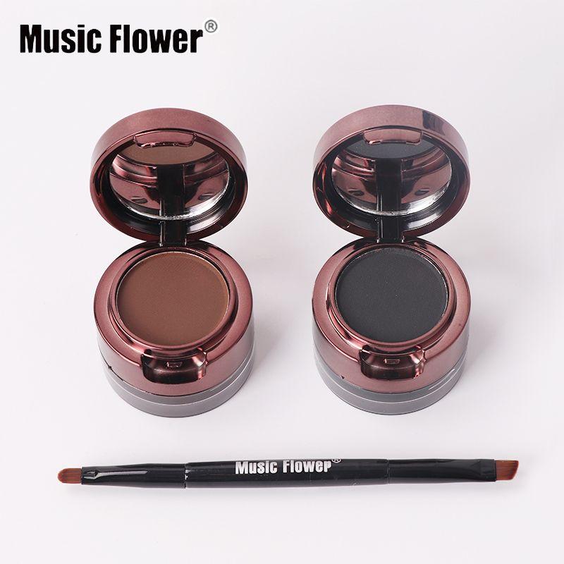 Music Flower Brand Eyebrow Enhancers Brown Black Eyes Enhancers Waterproof Eyes Makeup Eyebrow Enhancer with Brush Hot Sale