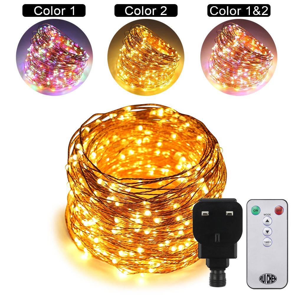 50M 500LEDs Dual-Color Copper Wire LED String Lights Starry Lights For wedding New Year Fairy Lights+UL CE Certified (US/EU/UK)
