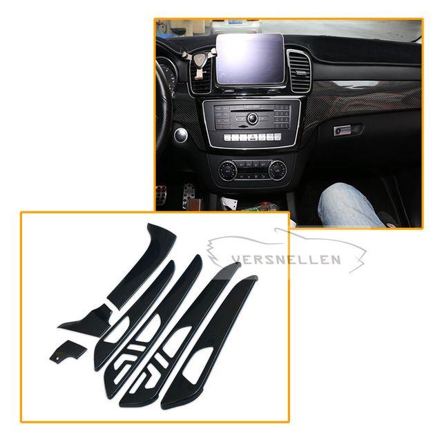 7 stücke Carbon fiber Innen Teil Für Mercedes Benz G Klasse W463 GL X166 GLE M Klasse Trockenen Carbon Faser innen Trim Abdeckung
