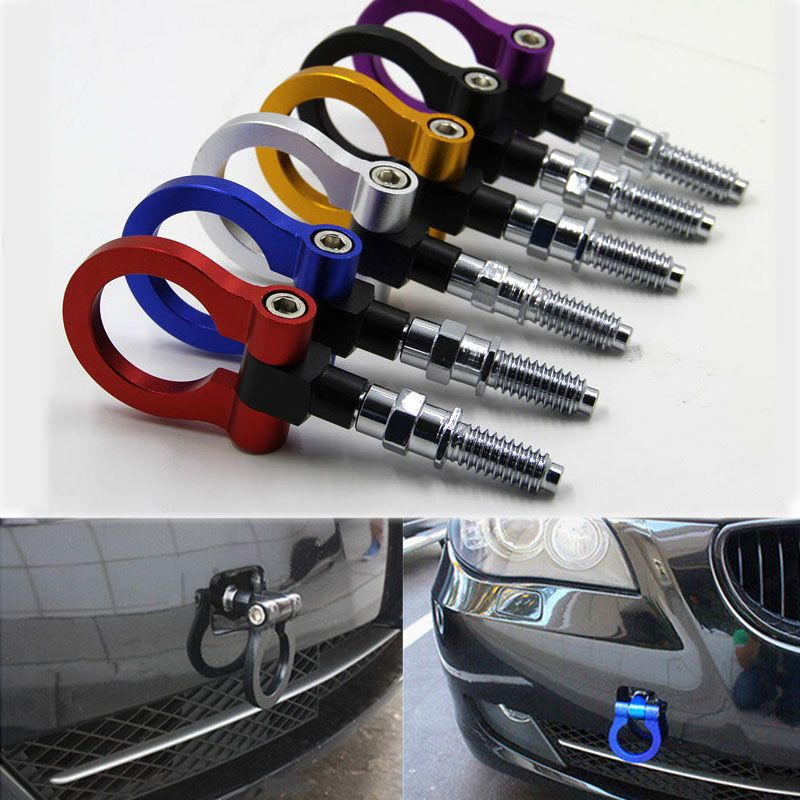 Dongzhen Universal Racing Towing Car Tow Hook Fit For BMW E46 E81 E30 E36 E90 E91 European Car Auto Trailer Ring Car Accessories
