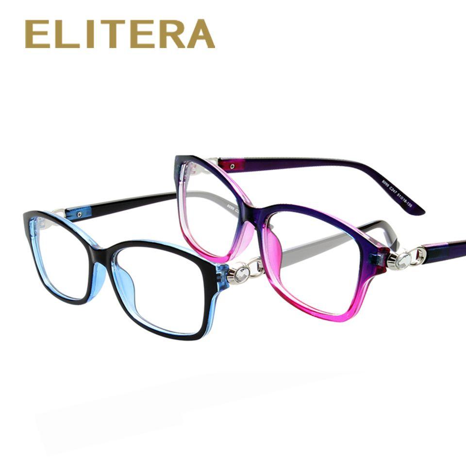 ELITERA Neue Marke Kristall verbindung Frauen männer brillengestell Optische Brillen Kurzsichtige Rahmen Frauen elegante Rahmen Großhandel