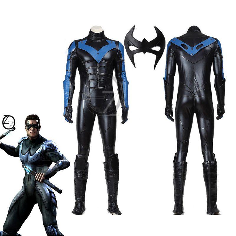 Halloween cosplay Batman costume Arkham City Nightwing Cosplay Costume adult men superhero Batman cosplay costume custom made