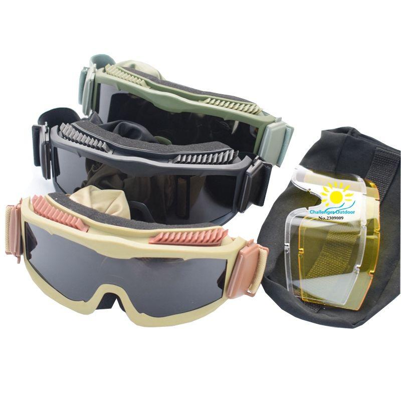 Nouveau Anti-Brouillard CS Lunettes Tactique Anti Brouillard Grand Militaire Lunettes Eye Protection des Lunettes pour Airsoft Désert