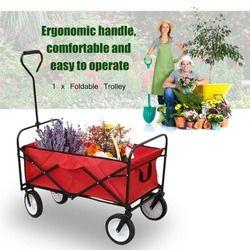 100 kg Heavy Duty mano plegable resistente carretilla jardín carrito carro plataforma hogar jardín herramienta para accesorios de coche herramienta