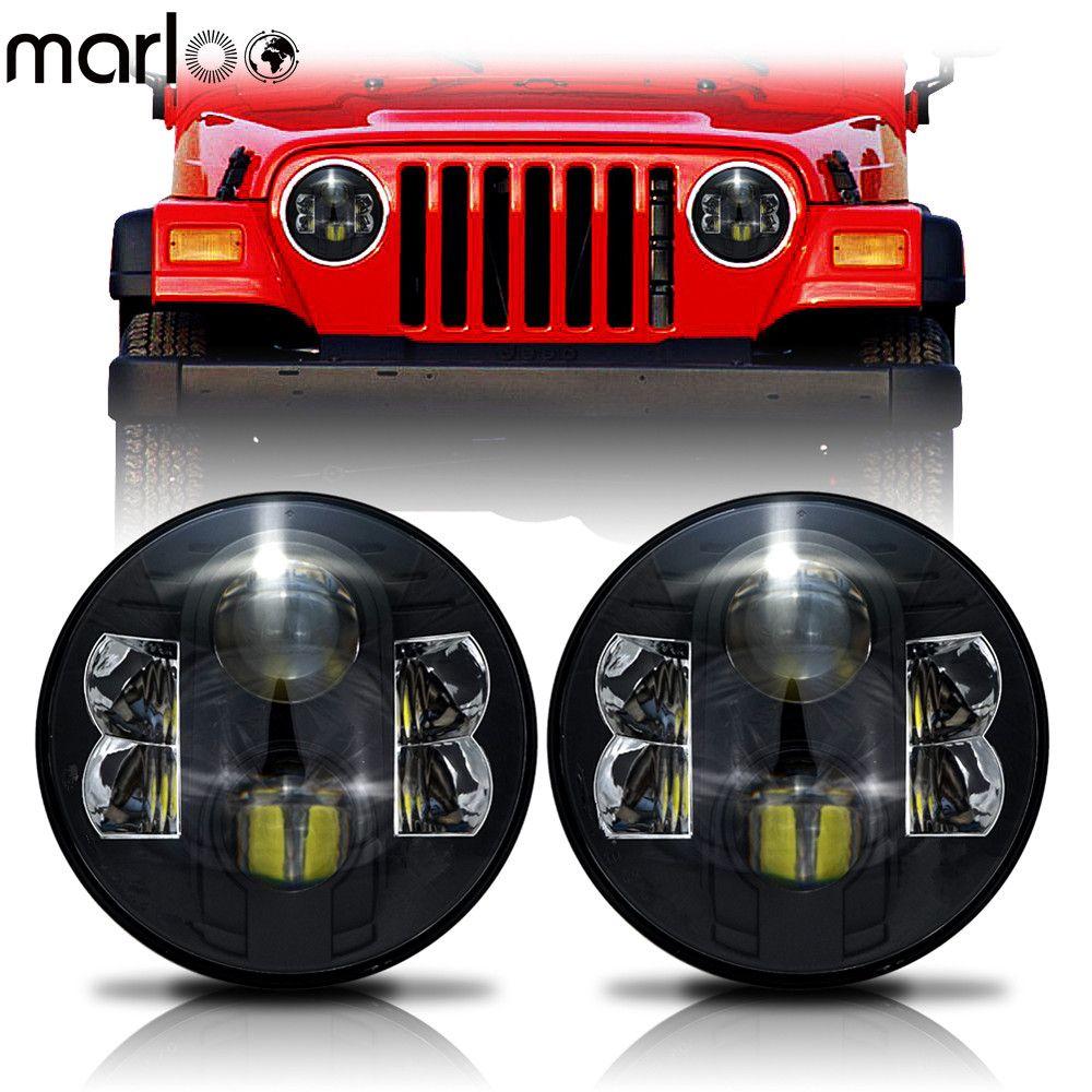 Marloo 2X7 Zoll 80 watt H4 LED Scheinwerfer Daymaker Wrangler 7