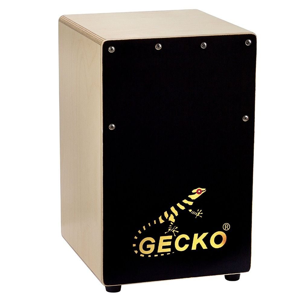 Gecko Mini Cajon Drum, Birch Plywood with Alloy Screws adjustable and Portable